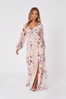 Little Mistress Mindy Floral-Print Lurex Maxi Dress