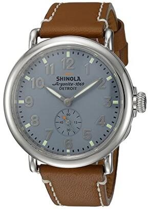 Shinola Detroit The Runwell 41mm - 10000024 (Slate Blue/Brown) Watches