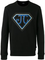 Just Cavalli logo embroidered sweatshirt - men - Cotton - S
