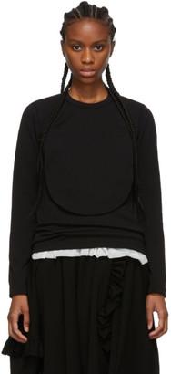 Comme des Garçons Comme des Garçons Black Circle Cut-Out Long Sleeve T-Shirt
