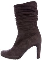 Roberto Del Carlo Suede Ruched Ankle boots