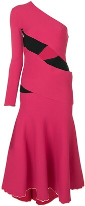 Proenza Schouler asymmetric flared midi dress