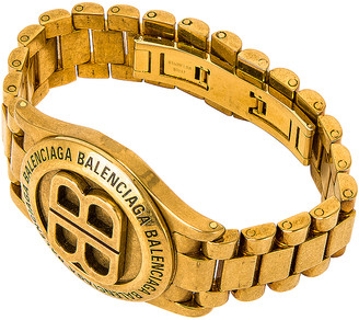 Balenciaga Time Bracelet in Antique Gold | FWRD
