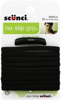 Scunci 10-Count Elastic No-Slip Ponytail Holders in Black
