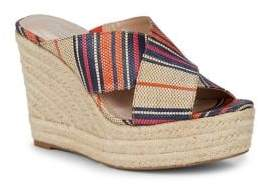 Charles by Charles David Leilani Multi-Striped Wedge Sandals