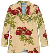Gucci Velvet Rose print jacket