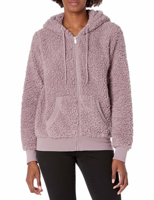 Andrew Marc Women's Teddy Fleece Full Zip Hooded Jacket