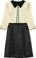 Marc Jacobs Two-tone Silk-satin Dress - Pastel yellow