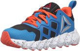 Reebok Exocage Athletic Kids Running Shoe 3 Black-Blue-Orange-White
