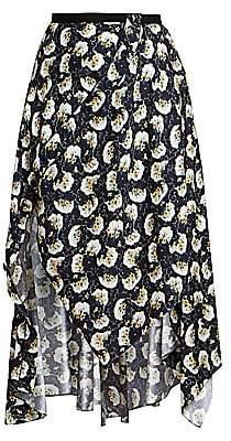 Chloé Women's Asymmetrical Bouquet Print Skirt