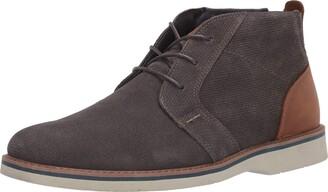 Nunn Bush Men's Barklay Plain Toe Chukka Boot Gray 11 Wide