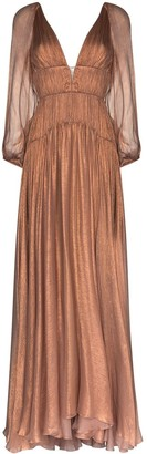 Maria Lucia Hohan Zeena pleated gown