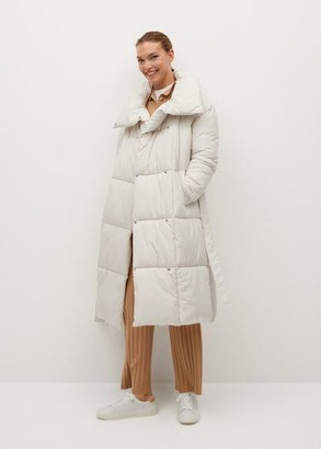 MANGO Belt quilted coat