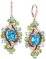 LeVian Le Vian Crazy Collection® Multi-Gemstone Drop Earrings (15-3/4 ct. t.w.) in 14k Rose gold