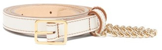 Hillier Bartley Chain-trimmed Metallic-leather Belt - White