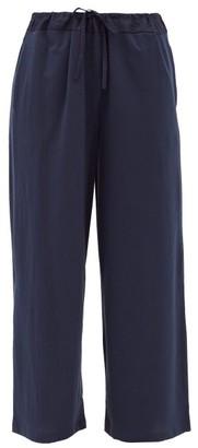 Skin Jenelle Pima Cotton-jersey Cropped Trousers - Navy