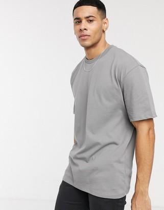 Topman oversized t-shirt in gray