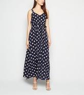 New Look Mela Polka Dot Maxi Dress