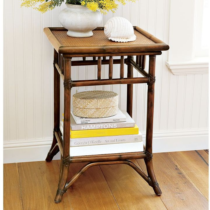 Pottery Barn Classic Rattan Bedside Table