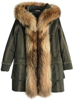 Philipp Plein Green Cotton Coat for Women