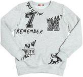MSGM Print & Patches Cotton Sweatshirt