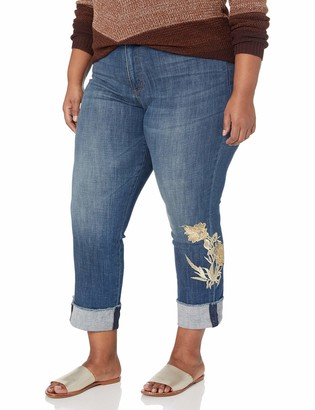 NYDJ Women's Size Plus Marilyn Ankle with Applique Cuff