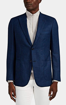 Brioni Men's Ravello Wool Two-Button Sportcoat - Blue