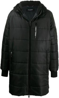 Dolce & Gabbana Quilted Zip-Up Coat