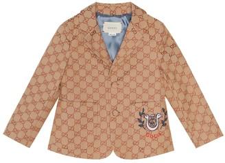 Gucci Kids GG canvas blazer