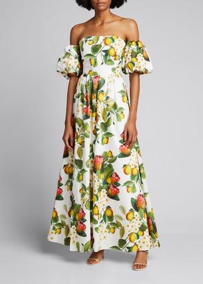 Borgo de Nor Juliet Off-the-Shoulder Floral-Print Maxi Dress