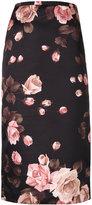 Rochas floral midi-skirt