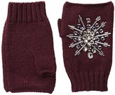 San Diego Hat Company Women's Fine Knit Fingerless Gloves with Hand Stitched Gems