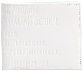 Diesel Text Embossed Bi-Fold Wallet