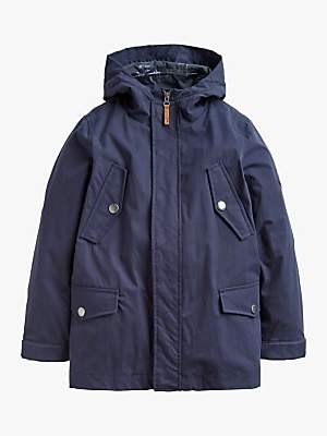 Joules Little Joule Boys' Hudson 3-in-1 Parka Coat, Navy
