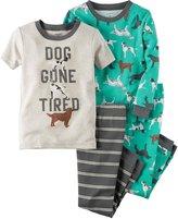 Carter's 4 Piece Dogs PJ Set (Baby) - Print - 24 Months