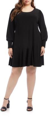 Karen Kane Dakota Blouson Long Sleeve Dress
