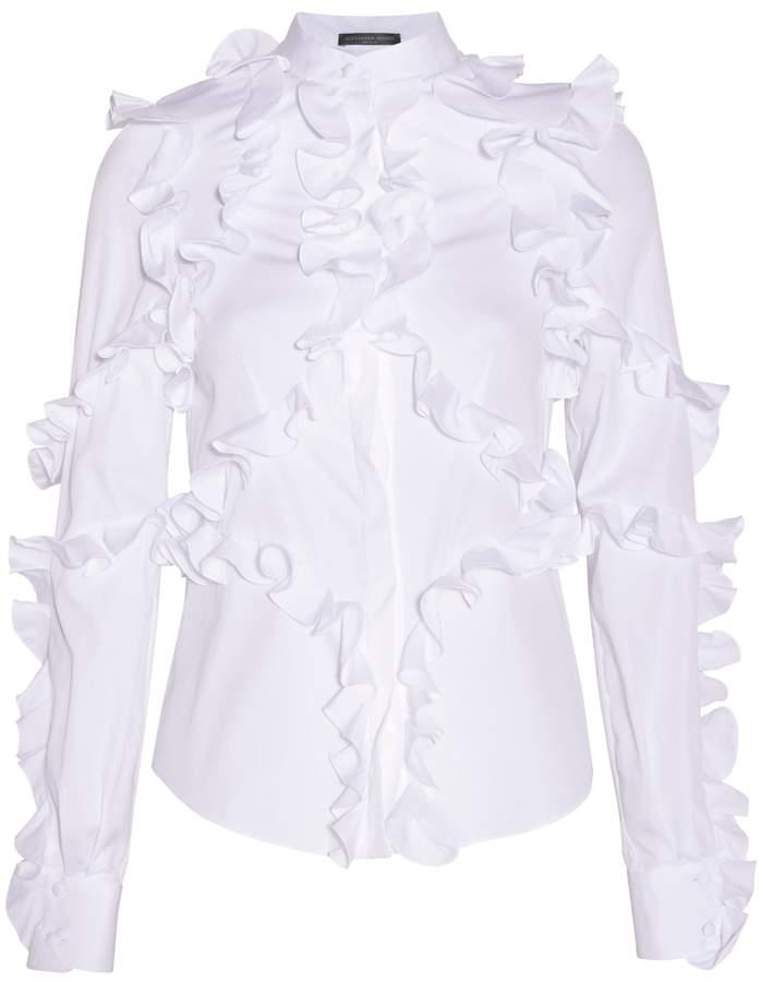 Alexander McQueen Ruffled Cotton Shirt