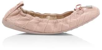 Tod's Croco-Embossed Leather Ballet Flats