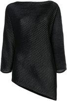Issey Miyake asymmetric hem knit top