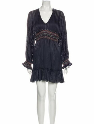 Ulla Johnson Silk Mini Dress Blue