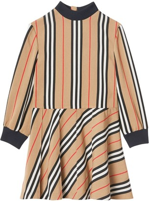 Burberry Heritage Stripes Printed Viscose Dress
