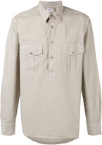 Aspesi half button shirt - men - Cotton - 39