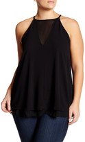 Hip Textured Knit Mesh Tank (Plus Size)