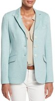 Loro Piana London Bridge Three-Button Jacket, White/Clear Lake