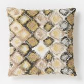 west elm Frayed Mosaic Pillow Cover – Horseradish