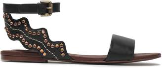 See by Chloe Crystal-embellished Leather Sandals