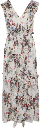Marissa Webb Viola Ruffled Floral-print Silk-georgette Midi Dress