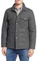 Billy Reid Quilted Herringbone Shirt Jacket