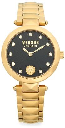 Versace Stainless Steel Swarovski Crystal Bracelet Watch