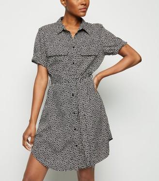 New Look Brave Soul Spot Mini Shirt Dress